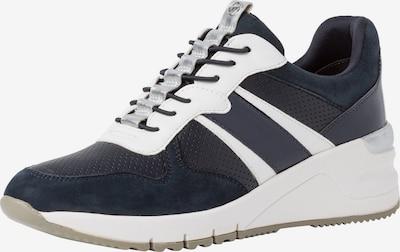 TAMARIS Sneakers laag in de kleur Donkerblauw / Wit: Vooraanzicht