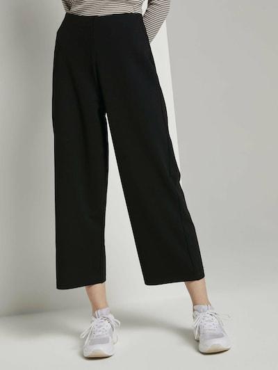 TOM TAILOR DENIM Chino hlače | črna barva, Prikaz modela