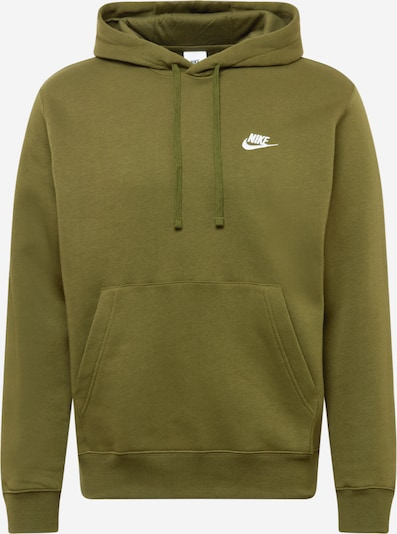 Nike Sportswear Sweat-shirt 'CLUB' en kaki / blanc, Vue avec produit