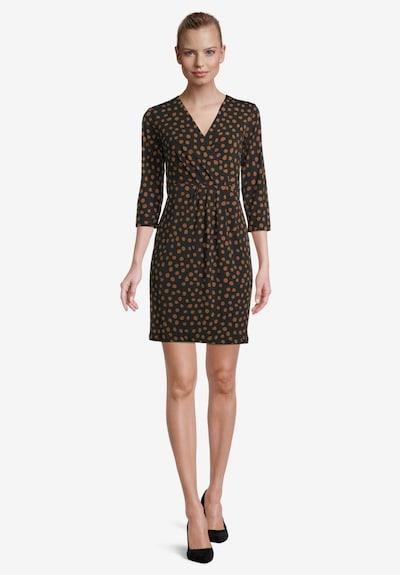 Betty & Co Kleid in cognac / schwarz, Modelansicht