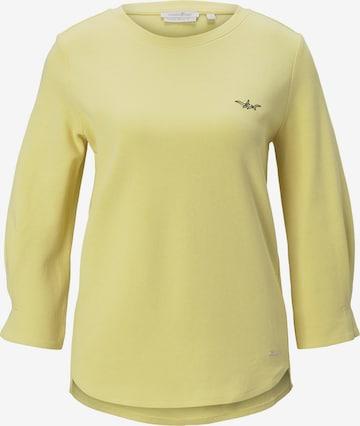 TOM TAILOR DENIM Sweatshirt in Gelb