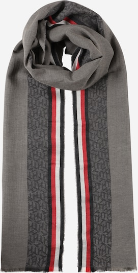 TOMMY HILFIGER Scarf in Navy / Graphite / Smoke grey / Red / White, Item view