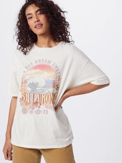 BILLABONG T-Shirt 'DREAMY DAY' in hellblau / hellorange / hellpink / hellrot / weiß: Frontalansicht