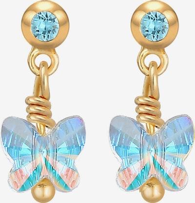 ELLI Ohrringe Schmetterling in türkis / gold, Produktansicht