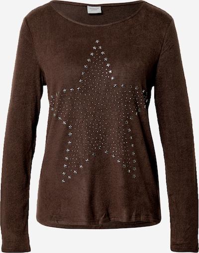 JACQUELINE de YONG Camiseta 'SARA TONSY' en marrón / plata, Vista del producto