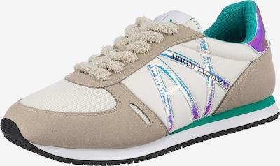 ARMANI EXCHANGE Sneaker in sand / neonlila / schwarz / weiß, Produktansicht
