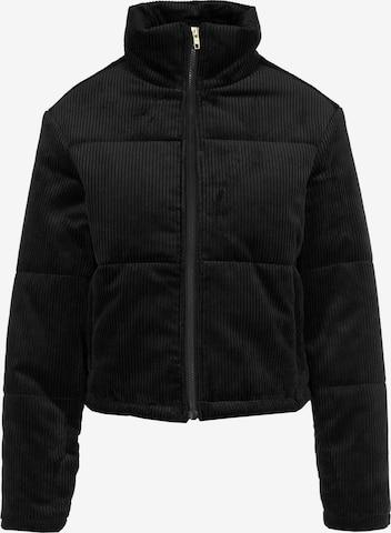 Urban Classics Between-Season Jacket 'Ladies Corduroy' in Black