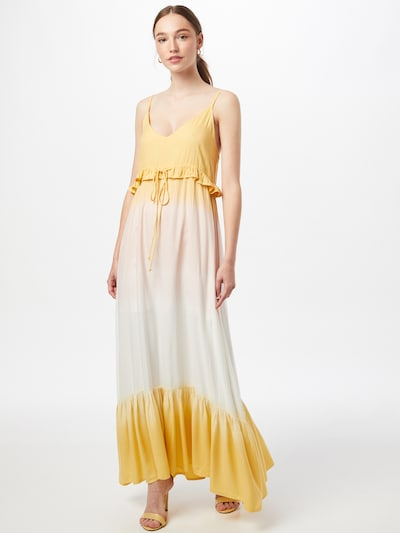 SISTERS POINT Kleid 'Love' in creme / gelb / puder, Modelansicht