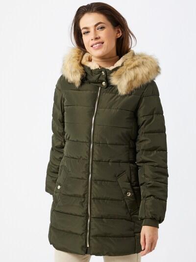 ONLY Wintermantel in de kleur Beige / Groen, Modelweergave