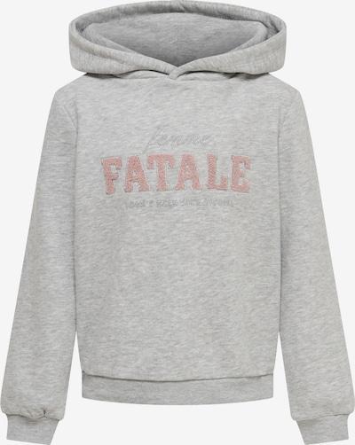 KIDS ONLY Sweatshirt 'Nellie' in graumeliert / hellpink / silber, Produktansicht