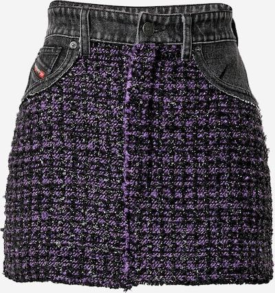 DIESEL Jupe 'O-SAN' en violet / noir, Vue avec produit