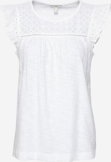 ESPRIT T-Shirt 'EMBRO' in weiß, Produktansicht