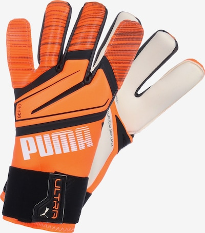 PUMA Torwarthandschuh 'Ultra Grip 1' in orange / schwarz / weiß, Produktansicht