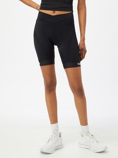 Maloja Športové nohavice 'Minor' - čierna / biela: Pohľad spredu