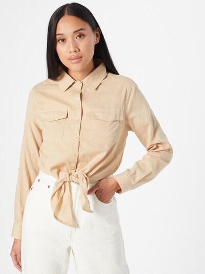 Hailys Chemisier 'Dina' en beige clair, Vue avec modèle