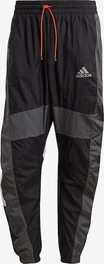 ADIDAS PERFORMANCE Sporthose in dunkelgrau / schwarz / weiß, Produktansicht