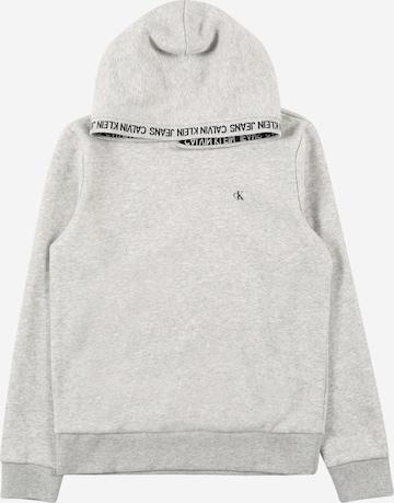 Calvin Klein Jeans Sweatshirt 'INTARSIA' in Grey