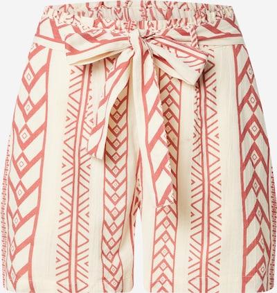 VERO MODA Shorts 'Dicthe' in rostbraun / naturweiß, Produktansicht