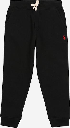 POLO RALPH LAUREN Hose in rot / schwarz, Produktansicht