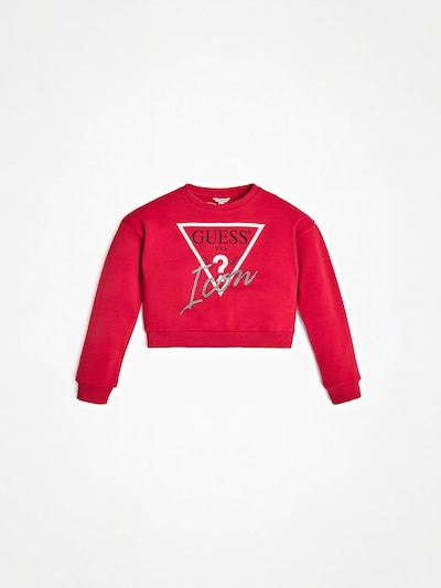 GUESS KIDS Sweatshirt in rot / silber / weiß, Produktansicht