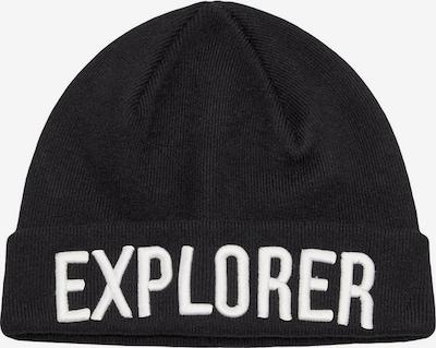NAME IT Mütze 'Explorer' in schwarz / weiß, Produktansicht
