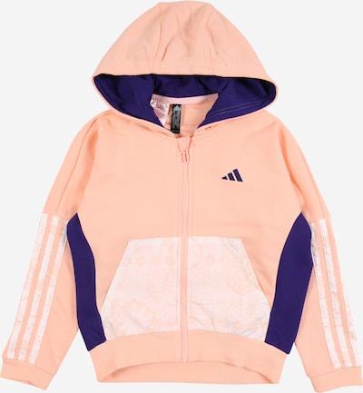 ADIDAS PERFORMANCE Sports sweat jacket in mauve / pink / white, Item view