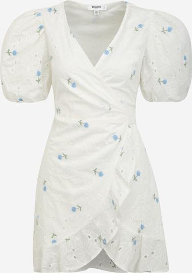 Rochie Missguided (Petite) pe albastru deschis / verde deschis / alb, Vizualizare produs