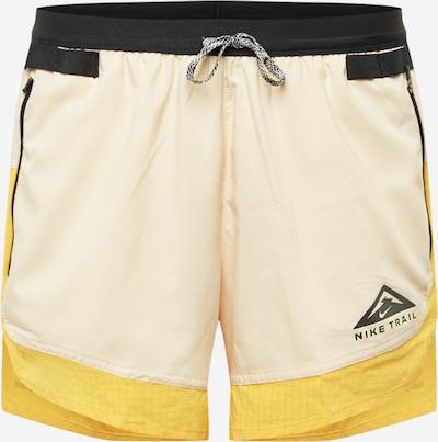 NIKE Sporta bikses bēšs / dzeltens / melns, Preces skats