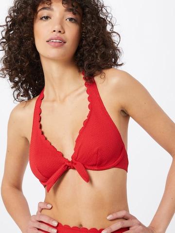 sarkans ESPRIT Bikini augšdaļa 'BARRITT'