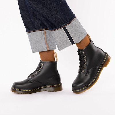 Dr. Martens Lace-Up Ankle Boots in Black: Frontal view