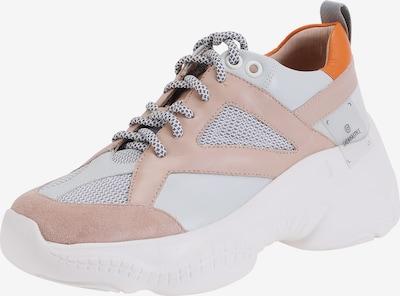 Ekonika Angesagter Sneaker mit Schnürung in grau / rosa / weiß, Produktansicht