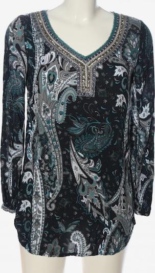 SIR OLIVER Langarm-Bluse in S in türkis / hellgrau / schwarz, Produktansicht