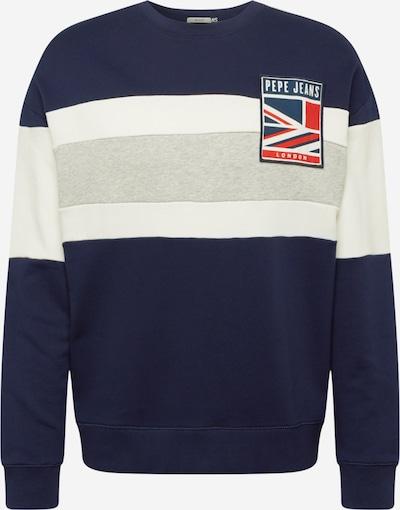 Pepe Jeans Sweatshirt 'HARPER' in navy / graumeliert / weiß, Produktansicht
