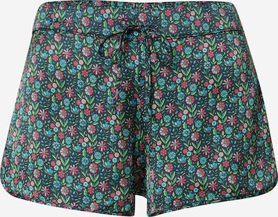 ETAM Pidžamas bikses 'CAMPAGNE' nefrīta / egļu / rožkrāsas / rozīgs, Preces skats