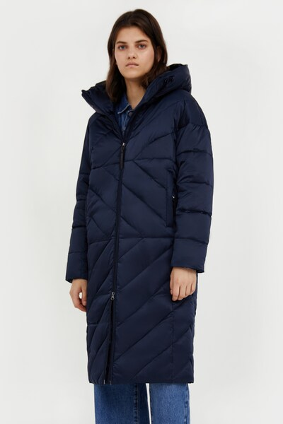 Finn Flare Wintermantel in de kleur Donkerblauw, Modelweergave