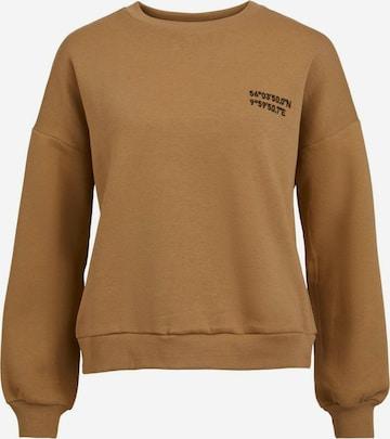VILA Sweatshirt in Brown