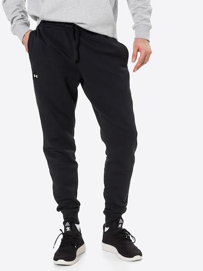 UNDER ARMOUR Jogginghose 'Rival' in schwarz / weiß, Modelansicht