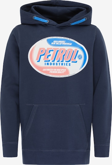 Pullover Petrol Industries di colore blu / arancione / bianco, Visualizzazione prodotti