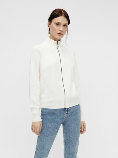 OBJECT Gebreid vest in de kleur Wit, Modelweergave
