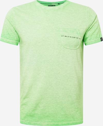 Petrol Industries T-Krekls, krāsa - kivi / melns, Preces skats