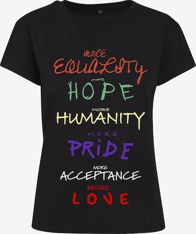 Merchcode T-shirt en jaune pastel / orange foncé / rouge clair / noir / blanc: Vue de face