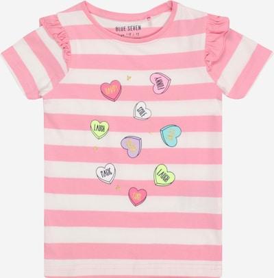 BLUE SEVEN T-Shirt in mischfarben / rosa / weiß, Produktansicht