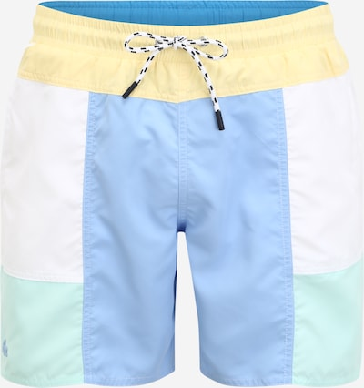 LACOSTE Swimming shorts in light blue / light yellow / mint / white, Item view