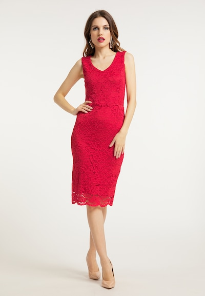 faina Kleid in rot, Modelansicht