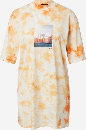 Tally Weijl Camiseta talla grande en gris basalto / naranja / rojo / blanco, Vista del producto