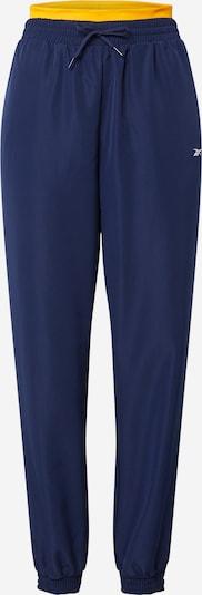Reebok Sport Sportbroek in de kleur Navy / Geel, Productweergave
