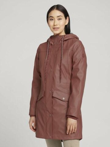 TOM TAILOR Between-Seasons Coat in Brown