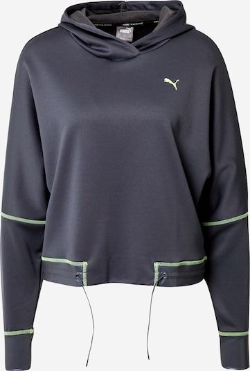 PUMA Sportsweatshirt 'Winter Pearl Training Hoodie' in anthrazit / grün, Produktansicht