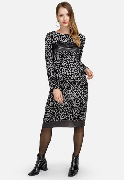 HELMIDGE Kleid in grau / schwarz, Modelansicht