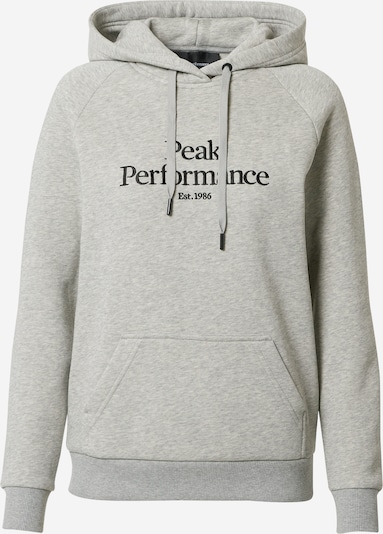 PEAK PERFORMANCE Спортен блузон с качулка в сив меланж / черно, Преглед на продукта